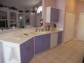 Kitchen featuring Corian Worktops