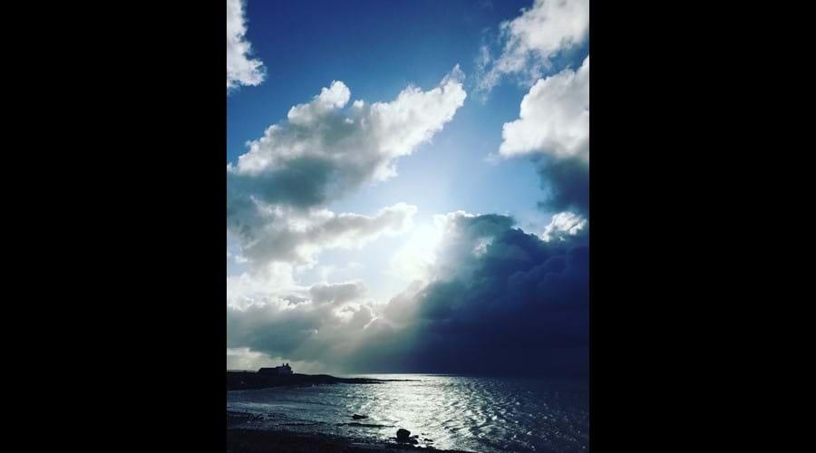Storm approaching, Seaweed Corner, Gansey