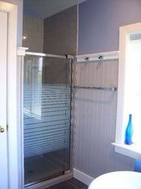 Glass door shower stall