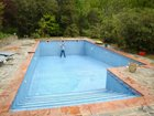 The pool is big!
