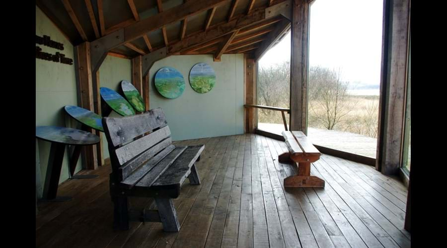 Main hide on Cors Caron Nature Reserve