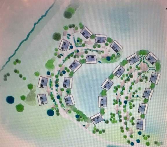 2 = Westlake Lodge,  6 = Waters Edge, 7 = Kingfisher Lodge, 8 = Libelle