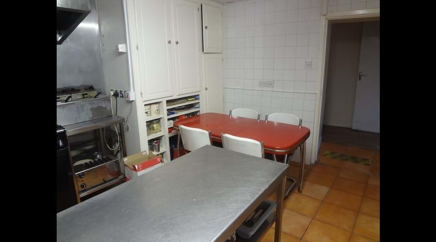 Breakfast nook in the kitchen