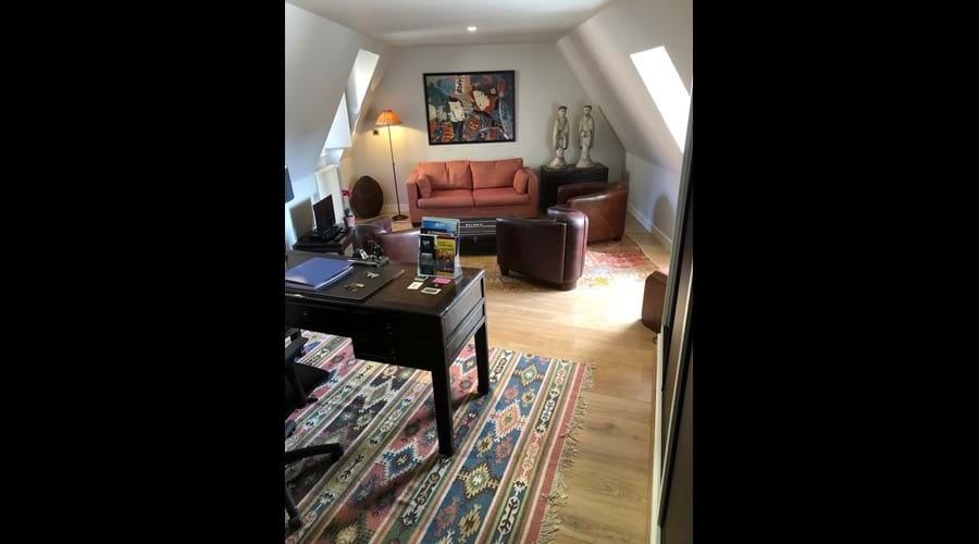 The living room (desk area)