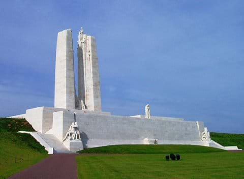 The Canadian War monument at Vimy Ridge