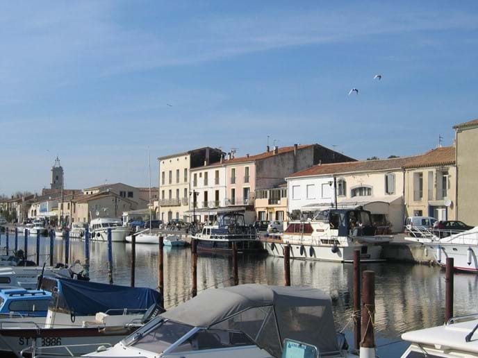 Marseillan Port with cafes and restaurants