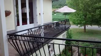 Folding doors from the main lounge to the rear balcony