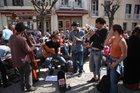 Band at Ceret Market