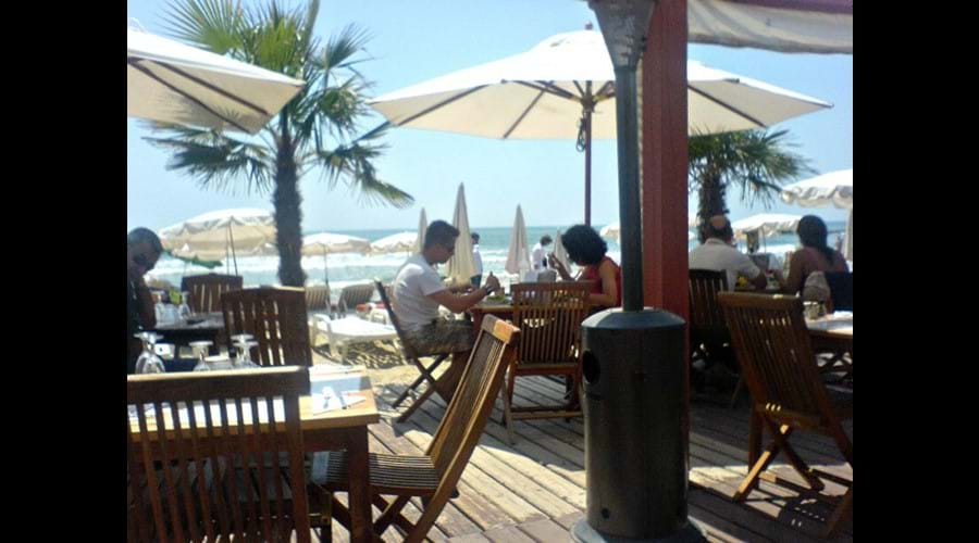 Summer beach restaurant