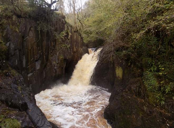 Peccca Twin Falls. Ingleton Waterfalls Trail.