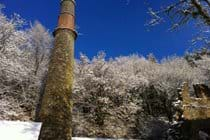 Winter wonderland - pumping engine house stack