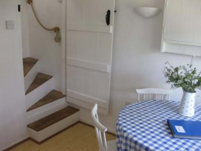 Cottage stairs to bedrooms