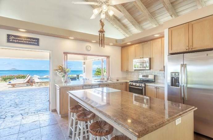 Open Plan Kitchen Facing Ocean
