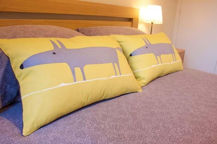 Calming bedroom space for a good nights sleep...