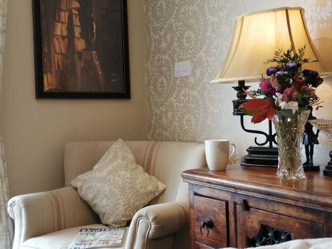 Relax in the cosy armchair in the lounge