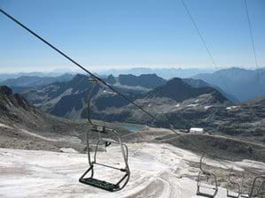 Chair lift Molltal Glacier