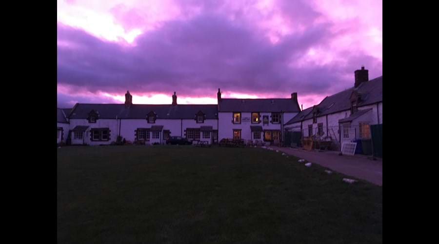 Winter sunset, Low Newton. Not enhanced-real colour!