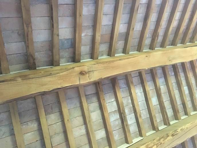 Chestnut beams in the sitting room