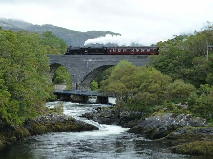 Steam Train over the River Morar