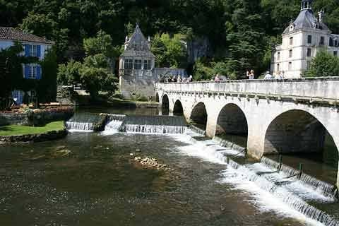 The beautiful town of Brantome