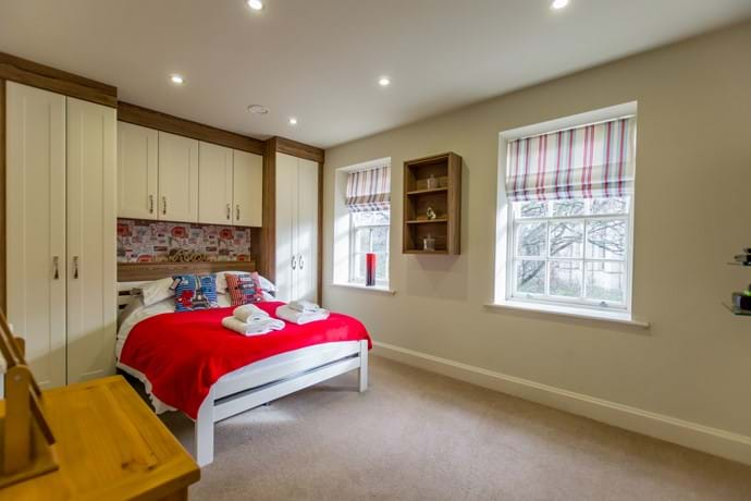 Double bedroom on top (second) floor with great views of York Minster