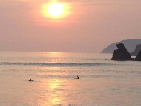 Sunset surfing Muckross