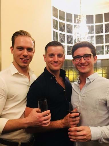 RSC production members in Matilda at the Sunderland Empire, Steffan, Matt and Peter
