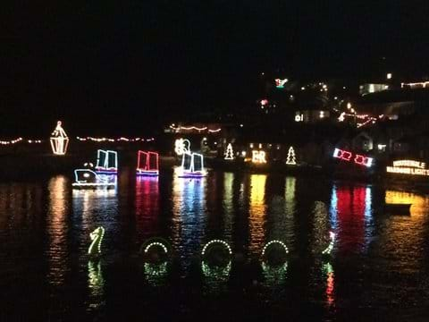 famous Christmas lights at near by Mousehole- a mile away