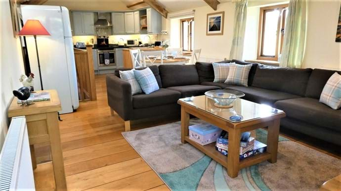 Large L Shape sofa in the lounge area