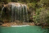 One of the waterfalls at Sillans la Cascade