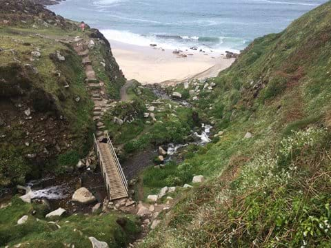 South West coastal path by Zennor