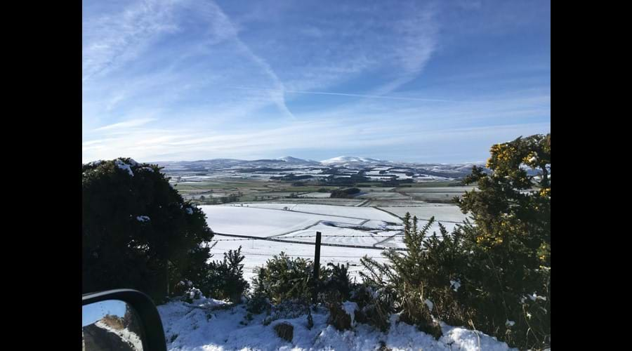 View towards Cheviots in Winter