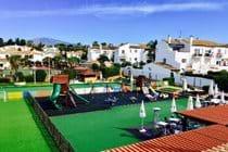 Los Arcos exterior play area + bar + restaurants just a short walk away