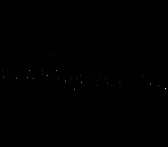 July 2016 - The night-fishing fleet has arrived from Volos. They fish during the dark of the moon attracting sardines and anchovies to the surface with bright lamps making the sea look like a night sky full of stars.