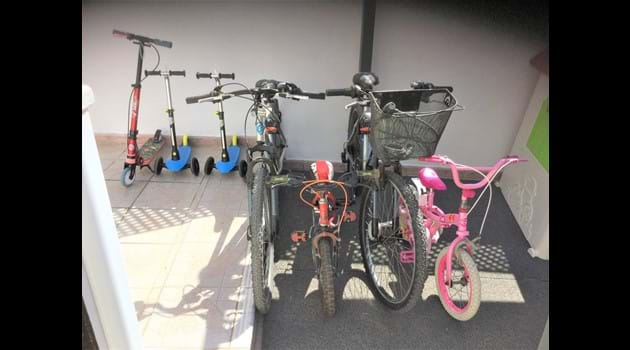Free use of assorted bikes + scooters