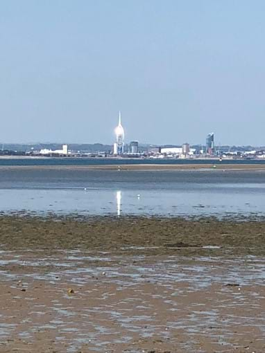 Views across The Solent on the beach walk to Ryde