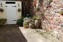 Sun trap patio area