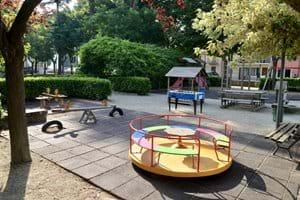 Playground in local village square