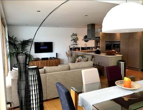 Spacious, open plan living area