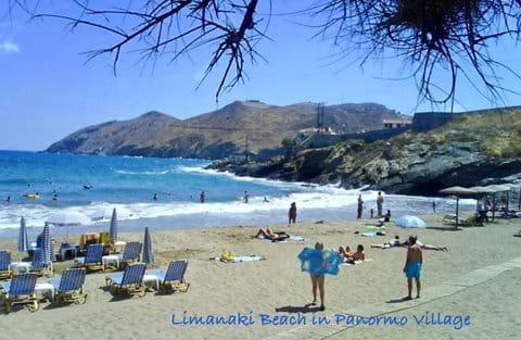 Limanaki Beach in Panormo Village