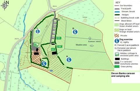 Campsite pitch plan