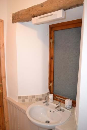 Oak Beam in Main Bathroom