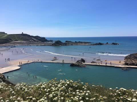 Our very own sea pool. Summerleaze Beach.
