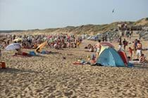 The supervised beaches are always popular in the summer months