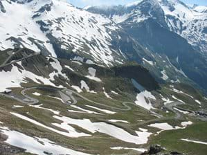 A view through Grossglockner Pass a few km away
