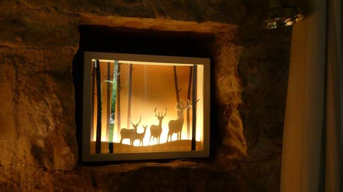 Cosy Christmas Lights in Nutcombe Barn