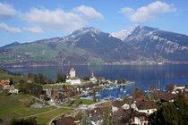 Beautiful Spiez on nearby Lake Thun.