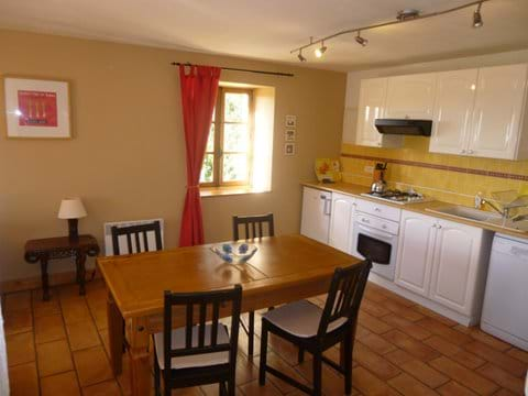 the gite kitchen is perfect for self catering