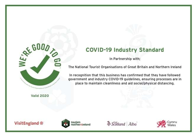 Our Good to Go Certificate