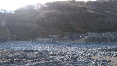 Bucks Mill beach sits below the chalet, a 15 minute walk